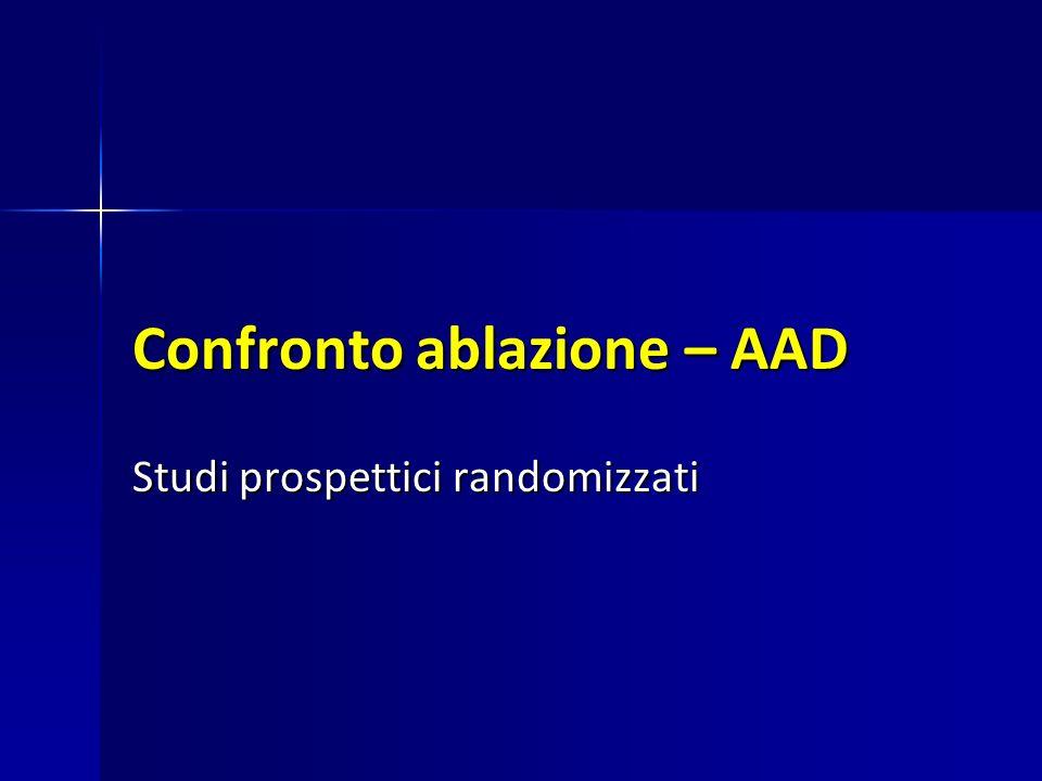 Confronto ablazione – AAD