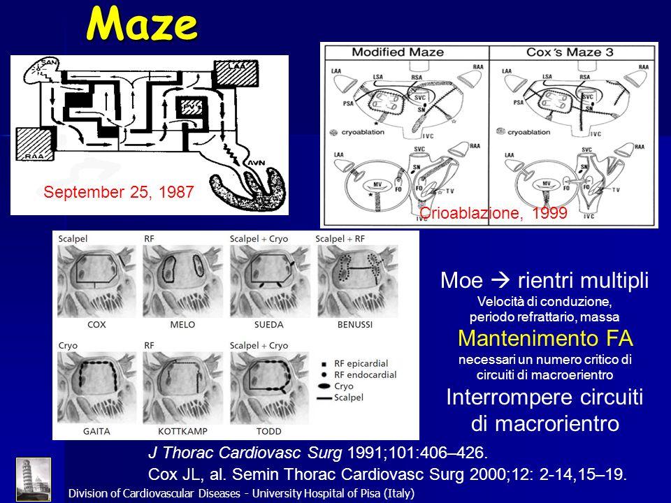 Maze Moe  rientri multipli