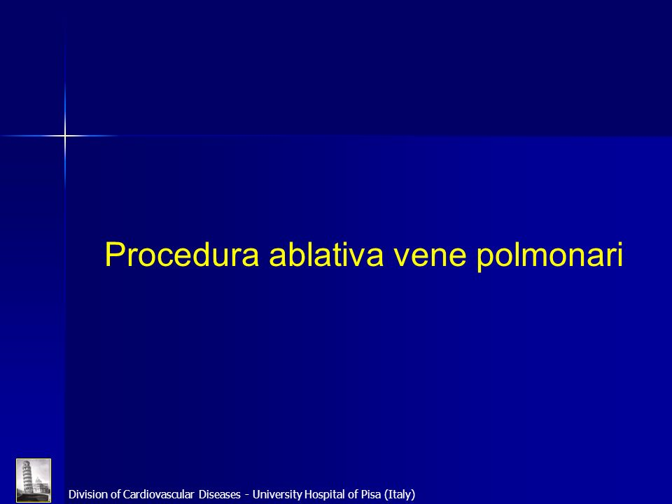 Procedura ablativa vene polmonari