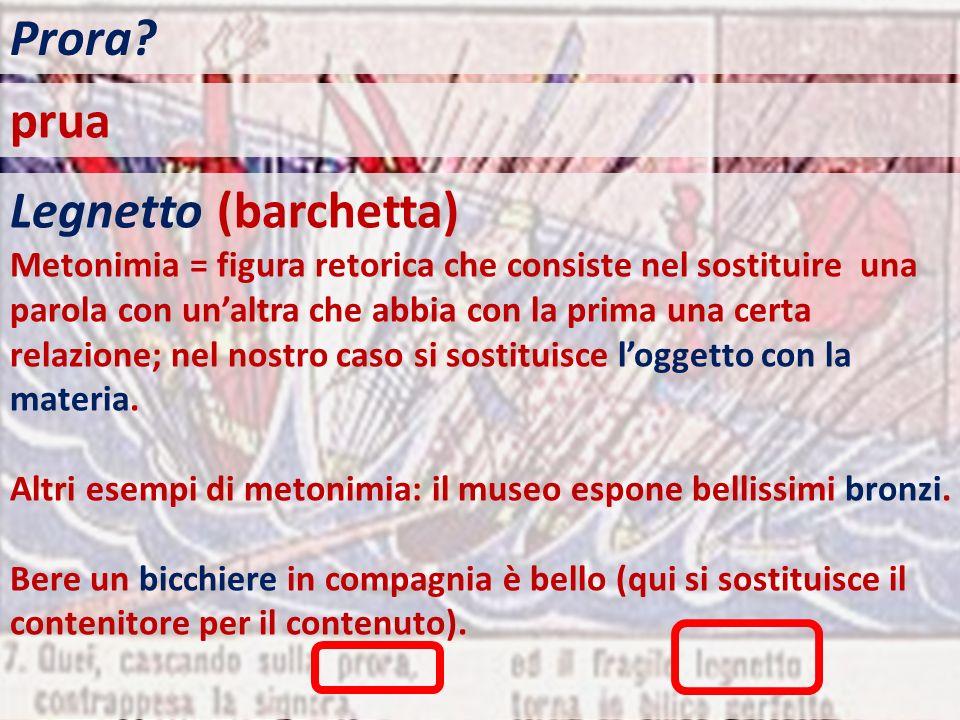 Prora prua Legnetto (barchetta)