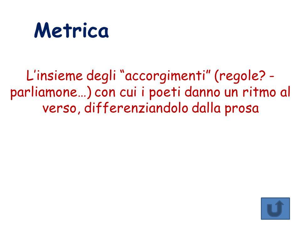 Metrica L'insieme degli accorgimenti (regole.