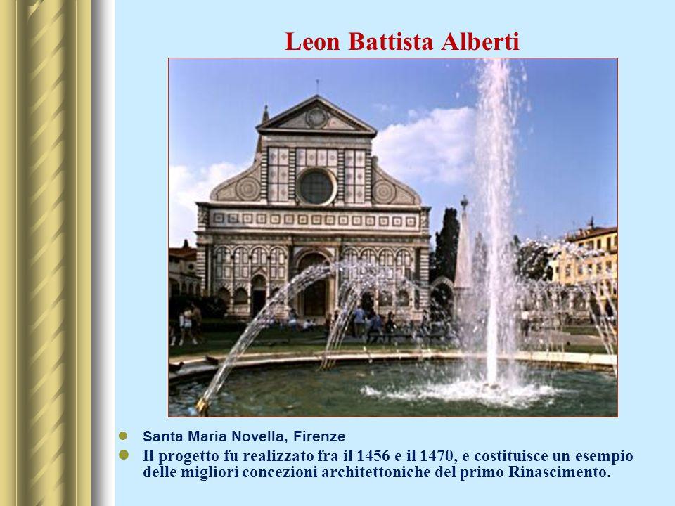 Leon Battista AlbertiSanta Maria Novella, Firenze.