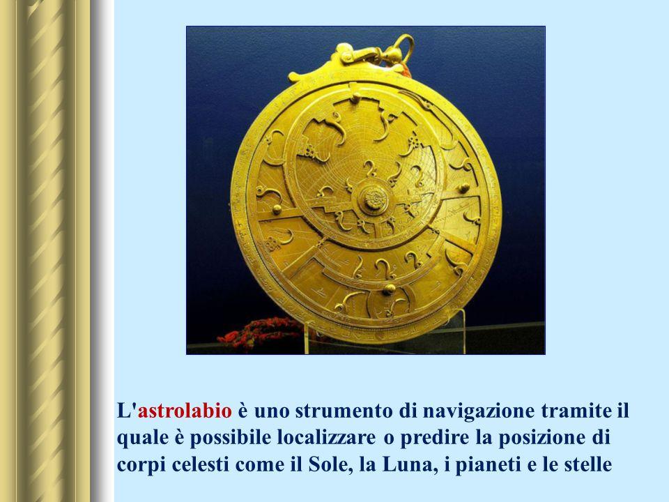 L astrolabio è uno strumento di navigazione tramite il quale è possibile localizzare o predire la posizione di corpi celesti come il Sole, la Luna, i pianeti e le stelle
