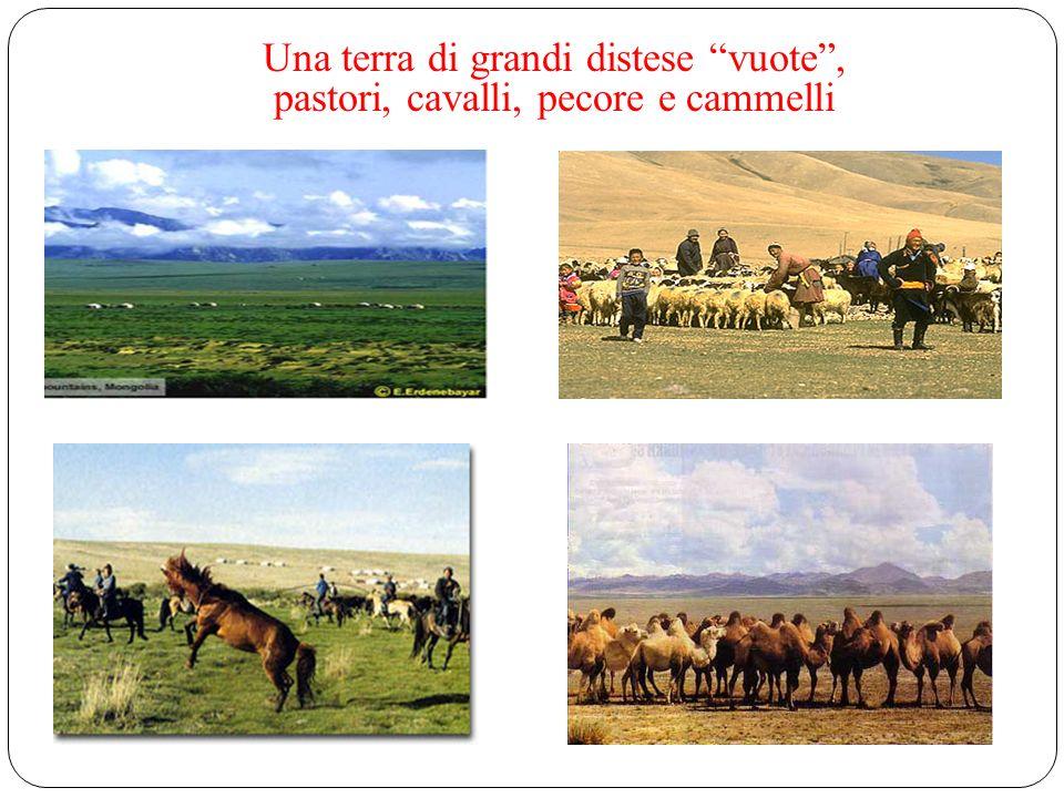Una terra di grandi distese vuote , pastori, cavalli, pecore e cammelli