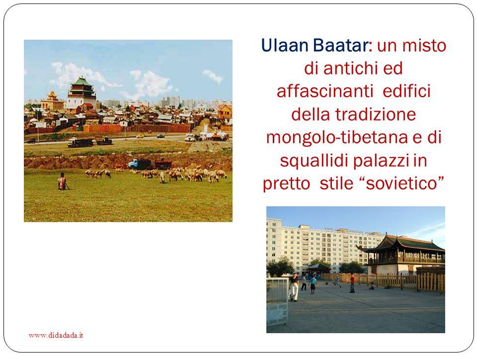 Ulaan Baatar: un misto di antichi ed affascinanti edifici della tradizione mongolo-tibetana e di squallidi palazzi in pretto stile sovietico