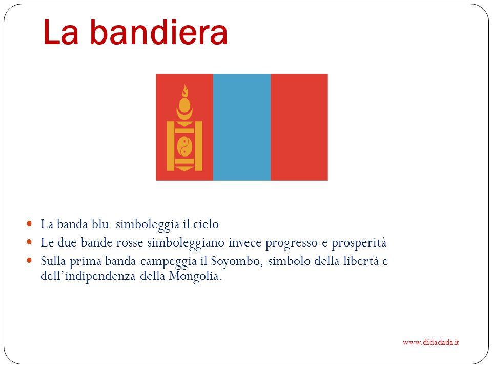 La bandiera La banda blu simboleggia il cielo