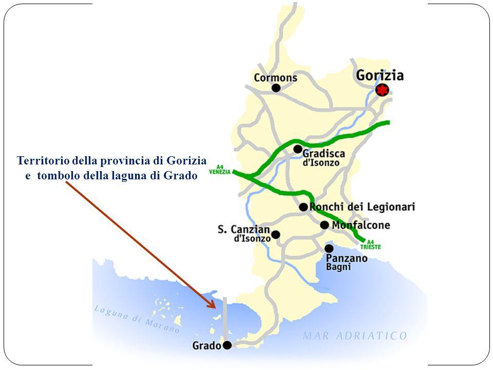 Territorio della provincia di Gorizia e tombolo della laguna di Grado
