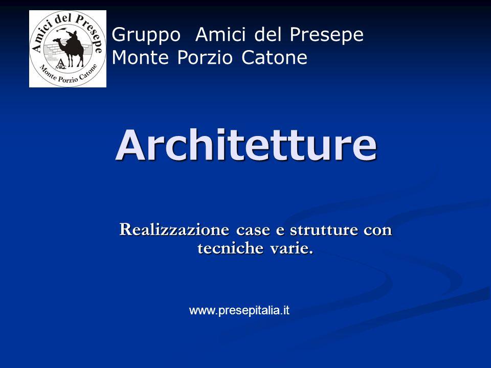 Realizzazione case e strutture con tecniche varie.