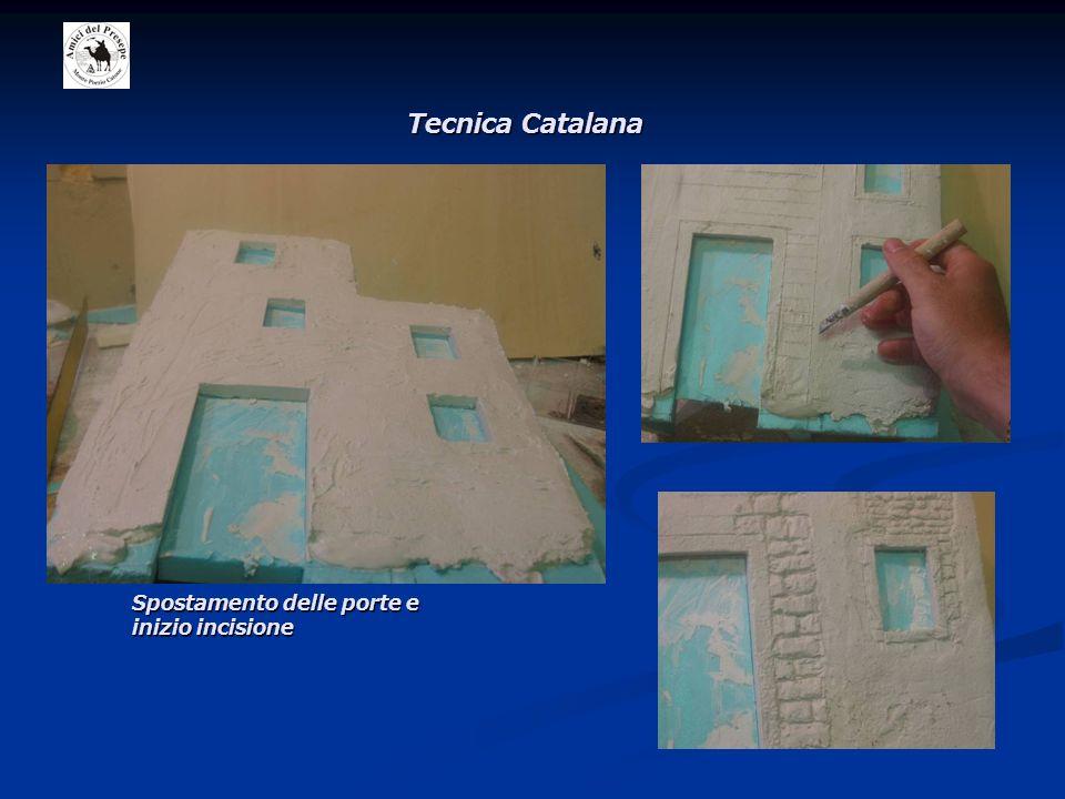 Tecnica Catalana Spostamento delle porte e inizio incisione