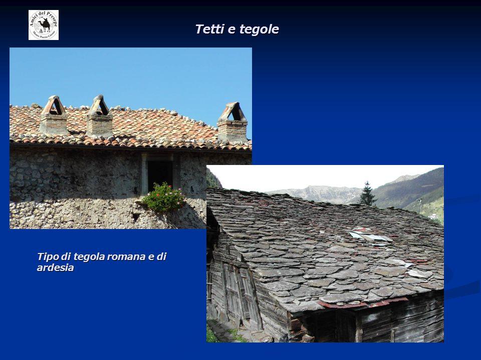 Tetti e tegole Tipo di tegola romana e di ardesia