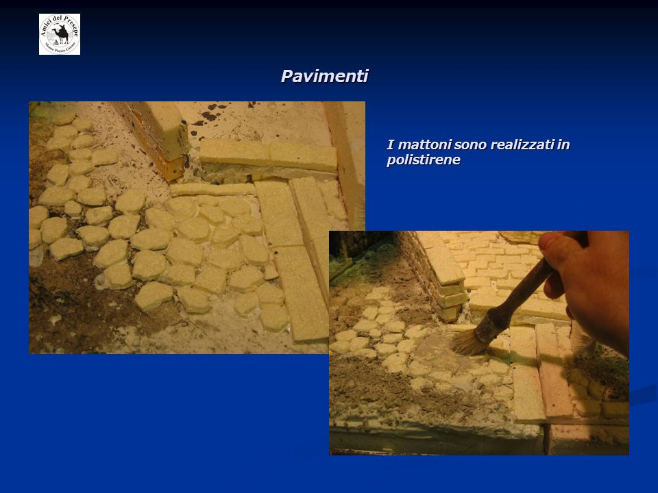 Pavimenti I mattoni sono realizzati in polistirene