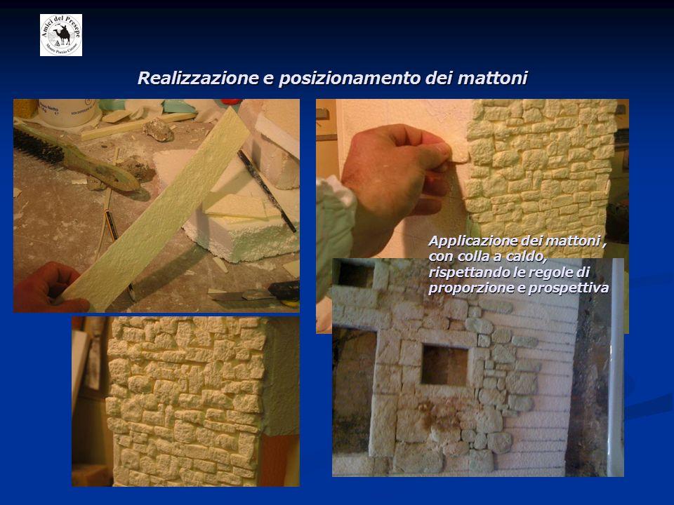 Realizzazione e posizionamento dei mattoni