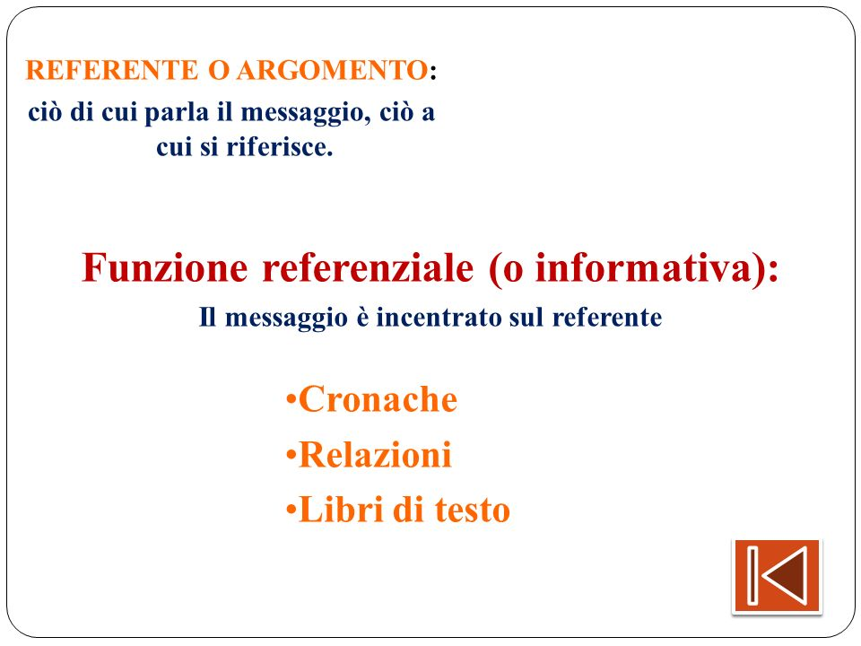Funzione referenziale (o informativa):