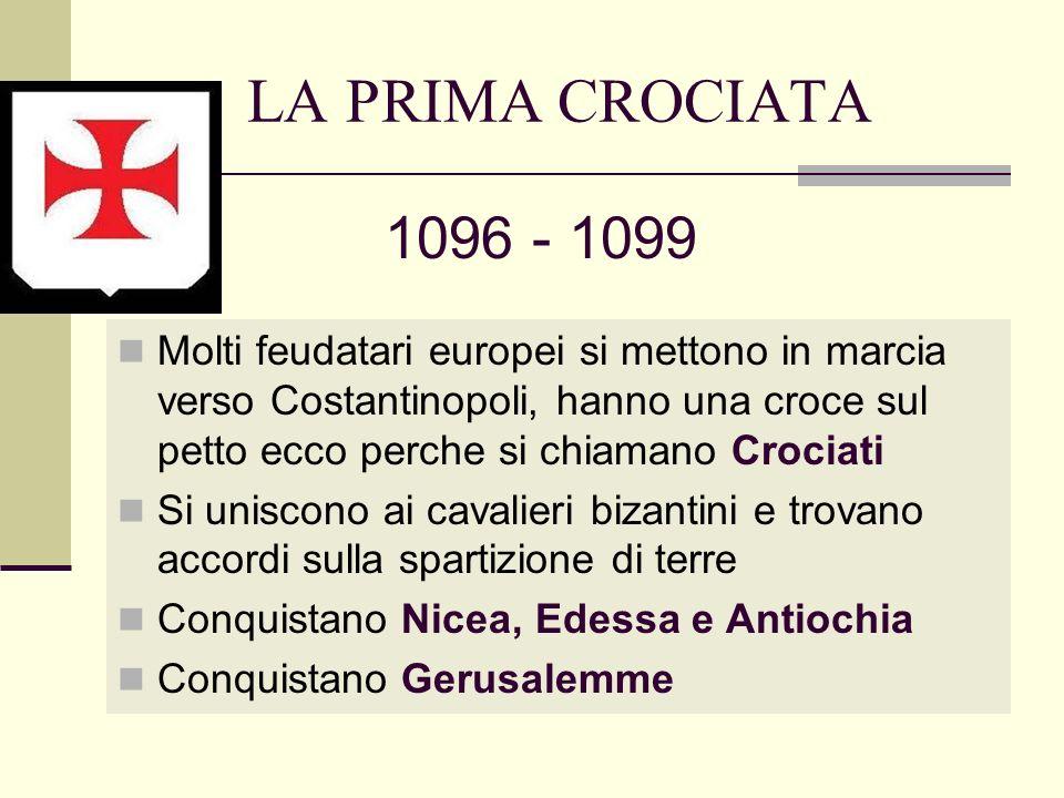 LA PRIMA CROCIATA 1096 - 1099.