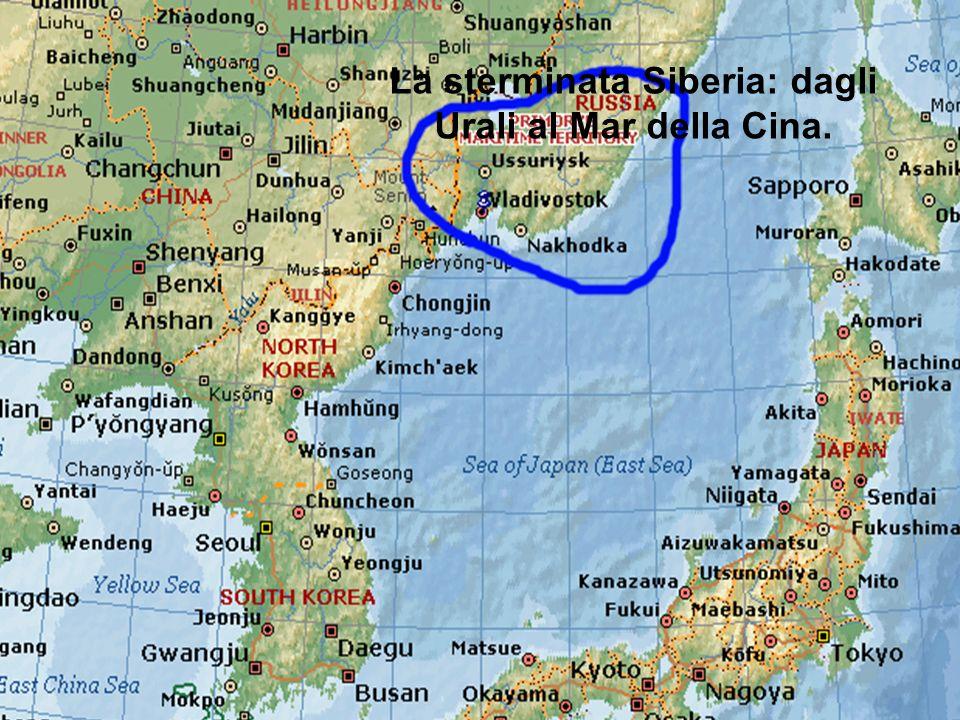 La sterminata Siberia: dagli Urali al Mar della Cina.