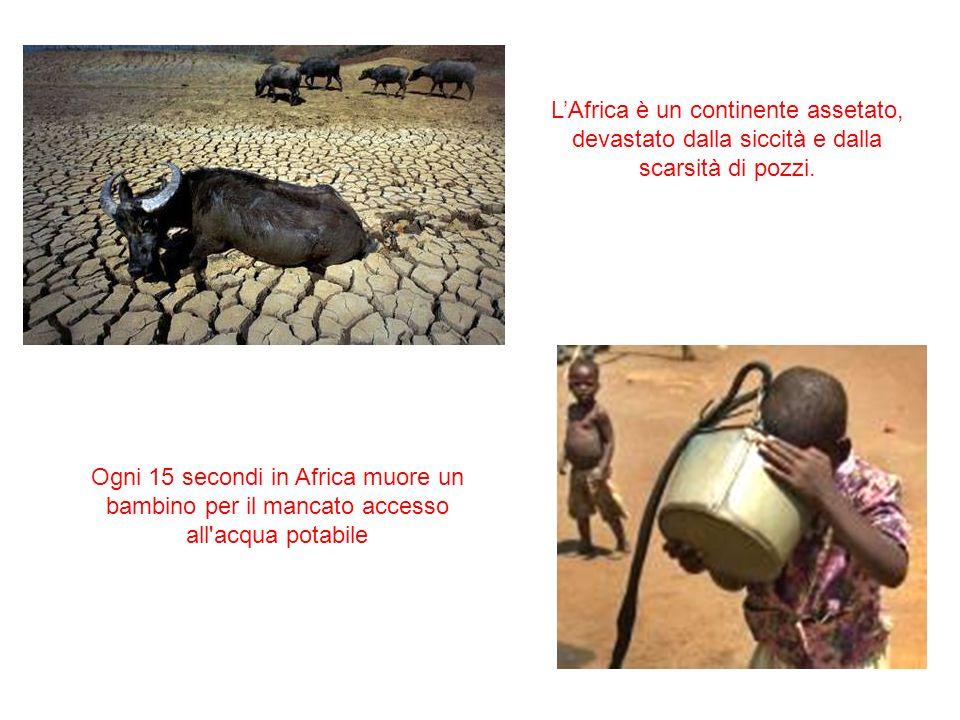 L'Africa è un continente assetato, devastato dalla siccità e dalla scarsità di pozzi.