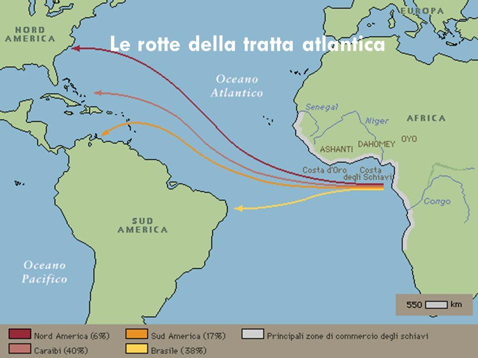 Le rotte della tratta atlantica
