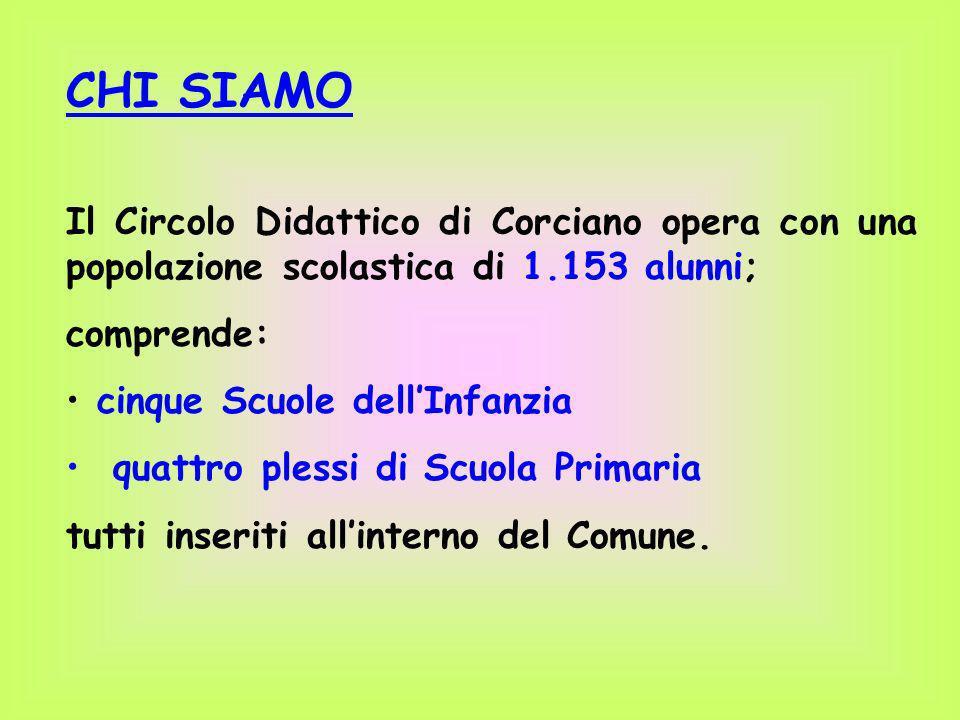 CHI SIAMO Il Circolo Didattico di Corciano opera con una popolazione scolastica di 1.153 alunni;