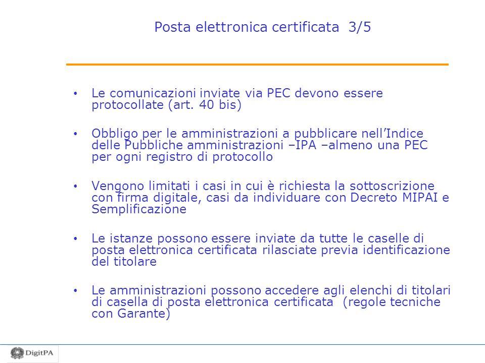 Posta elettronica certificata 3/5