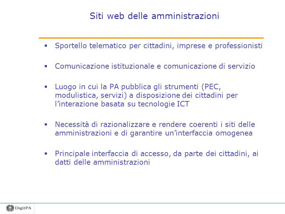 Siti web delle amministrazioni