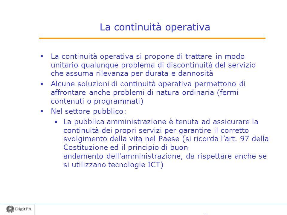 La continuità operativa