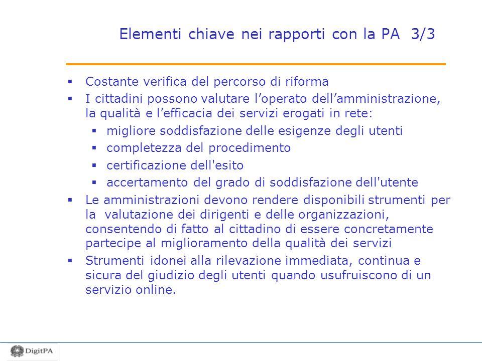 Elementi chiave nei rapporti con la PA 3/3