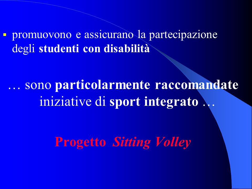 Progetto Sitting Volley
