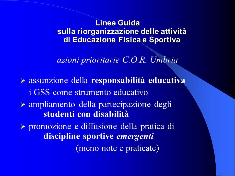 azioni prioritarie C.O.R. Umbria