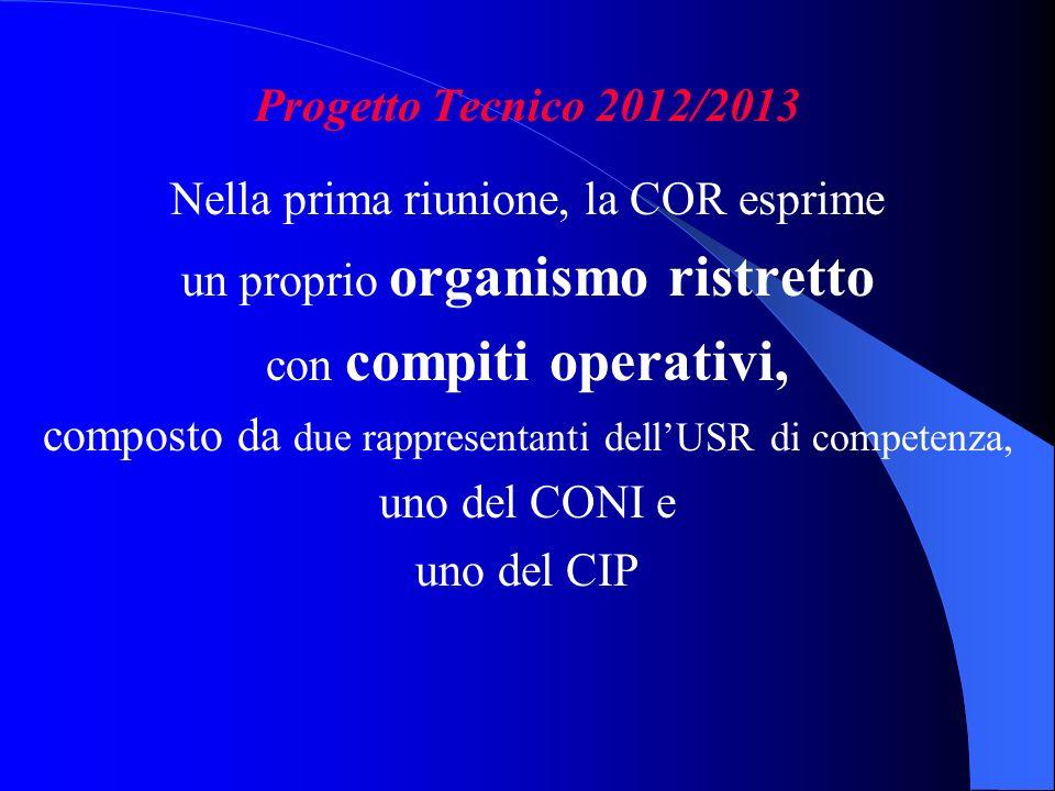 Nella prima riunione, la COR esprime un proprio organismo ristretto
