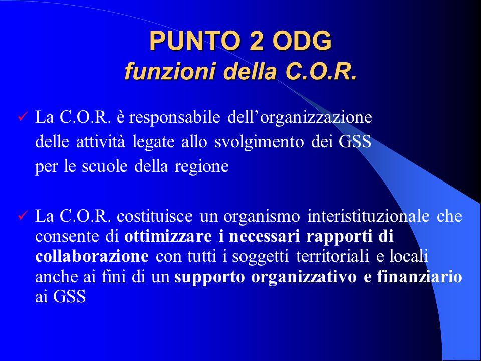 PUNTO 2 ODG funzioni della C.O.R.