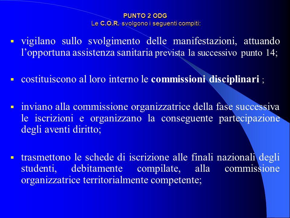 PUNTO 2 ODG Le C.O.R. svolgono i seguenti compiti: