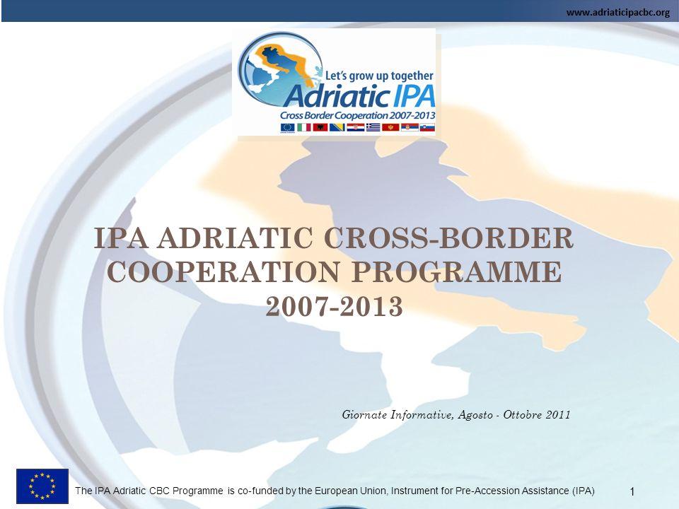 IPA ADRIATIC CROSS-BORDER COOPERATION PROGRAMME 2007-2013