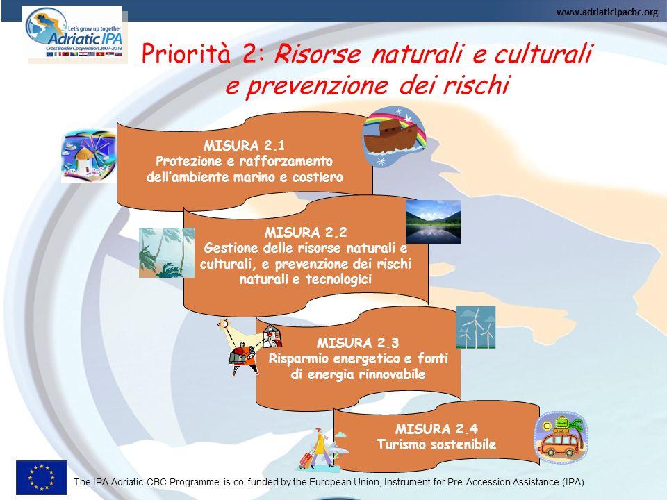 Priorità 2: Risorse naturali e culturali e prevenzione dei rischi
