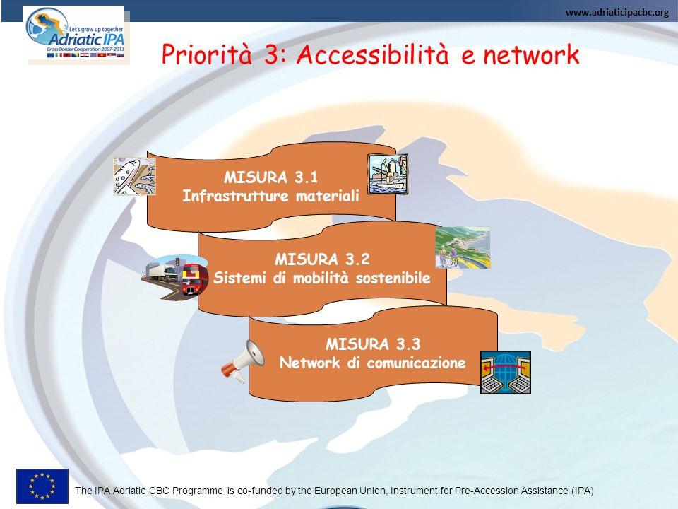 Priorità 3: Accessibilità e network
