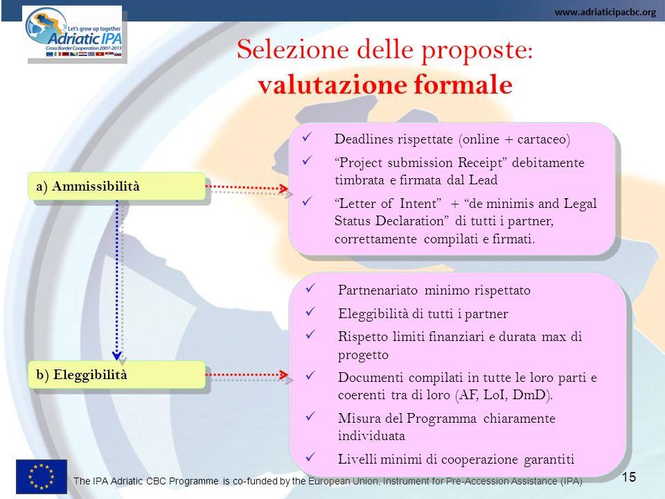Selezione delle proposte:
