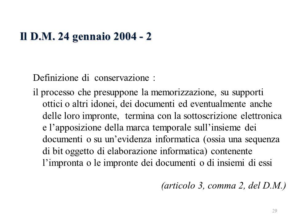 Il D.M. 24 gennaio 2004 - 2 6.2.3 Il D.M. 24 gennaio 2004 - 1