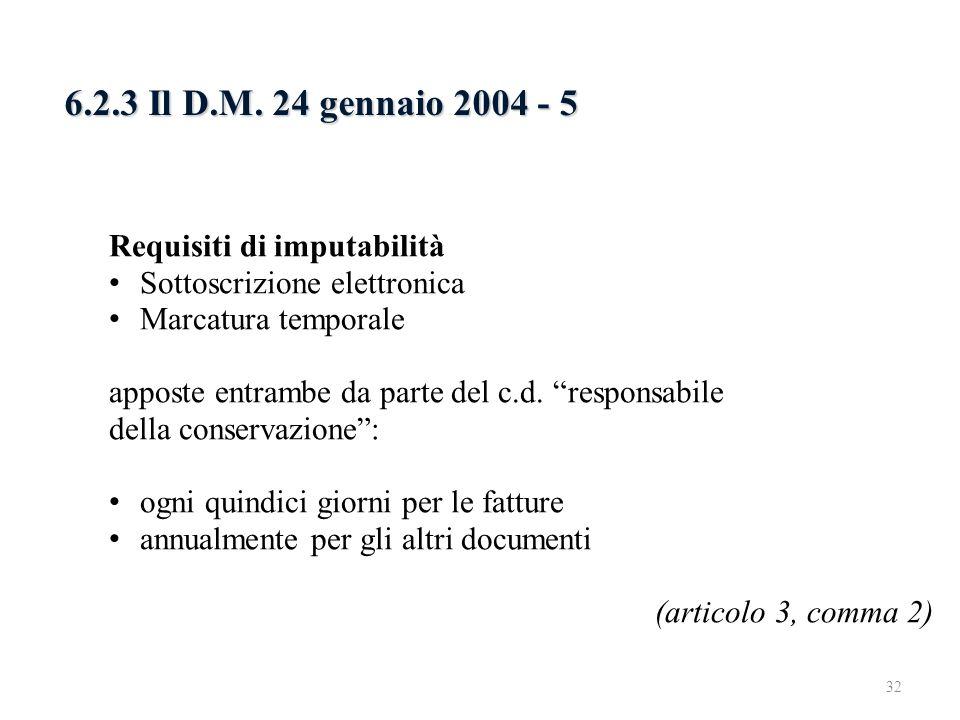 6.2.3 Il D.M. 24 gennaio 2004 - 5 6.2.3 Il D.M. 24 gennaio 2004 - 3