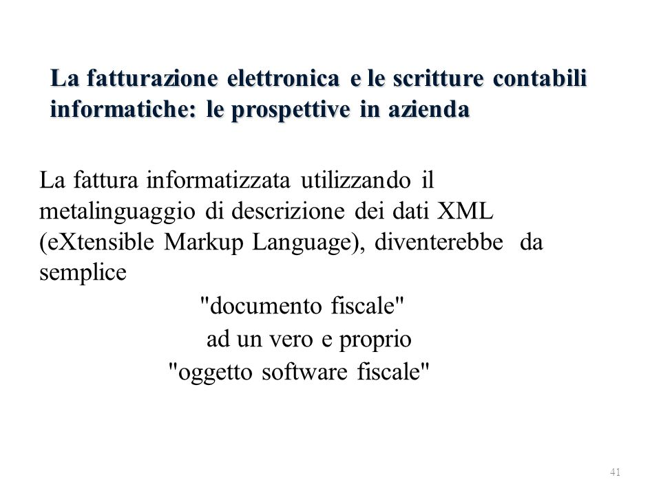 oggetto software fiscale