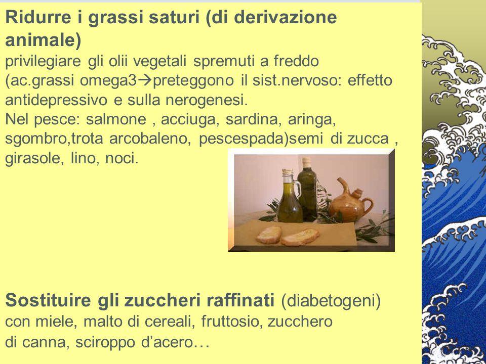 Ridurre i grassi saturi (di derivazione animale)