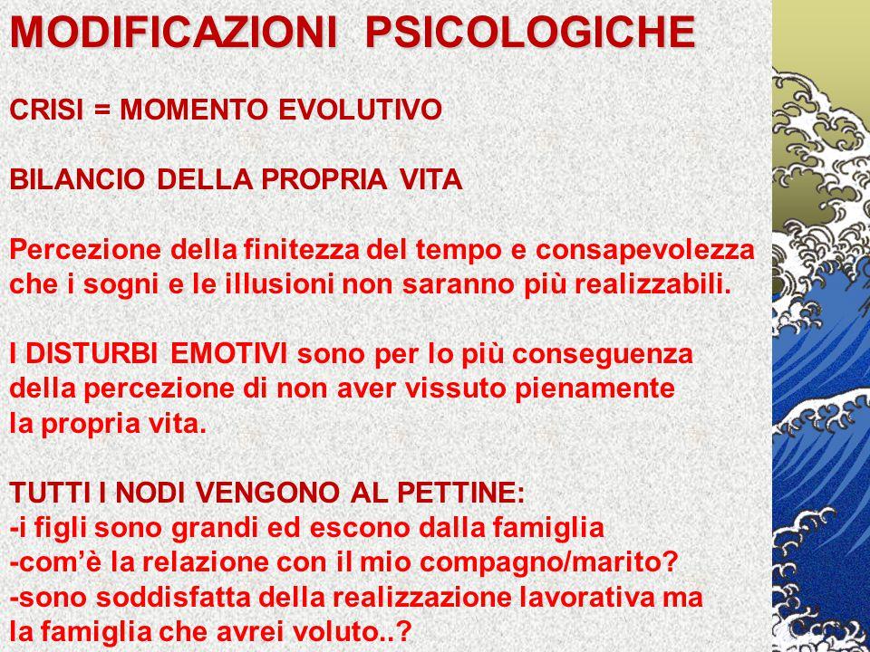 MODIFICAZIONI PSICOLOGICHE