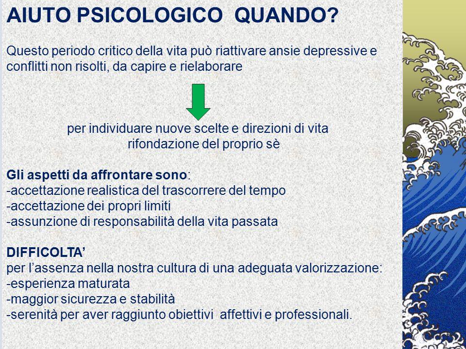 AIUTO PSICOLOGICO QUANDO