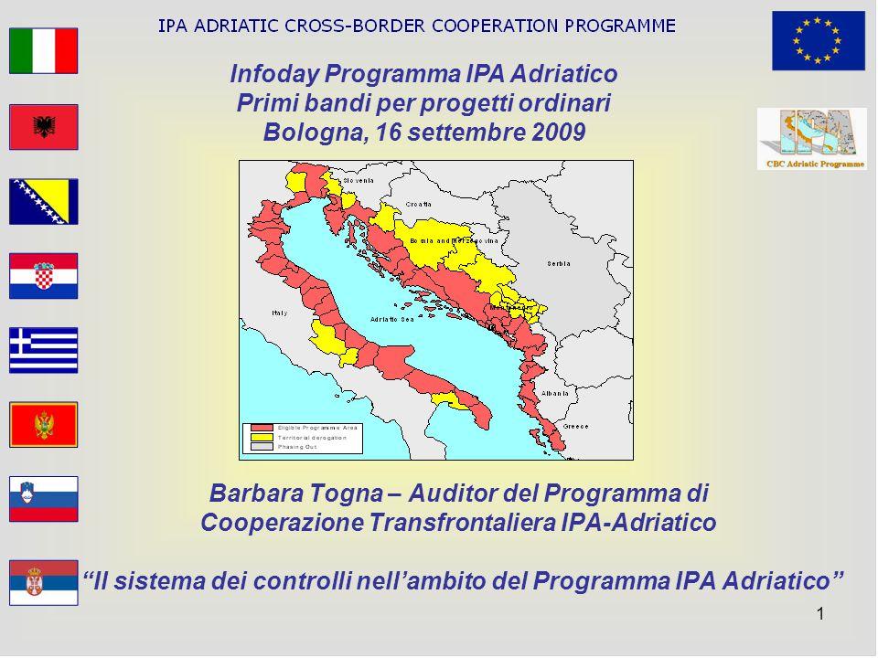 Infoday Programma IPA Adriatico Primi bandi per progetti ordinari