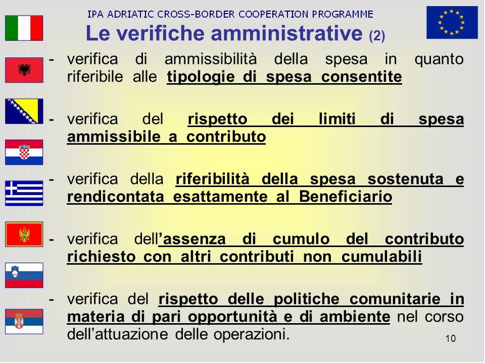 Le verifiche amministrative (2)