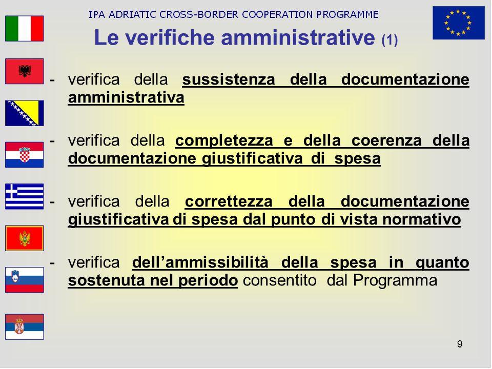 Le verifiche amministrative (1)
