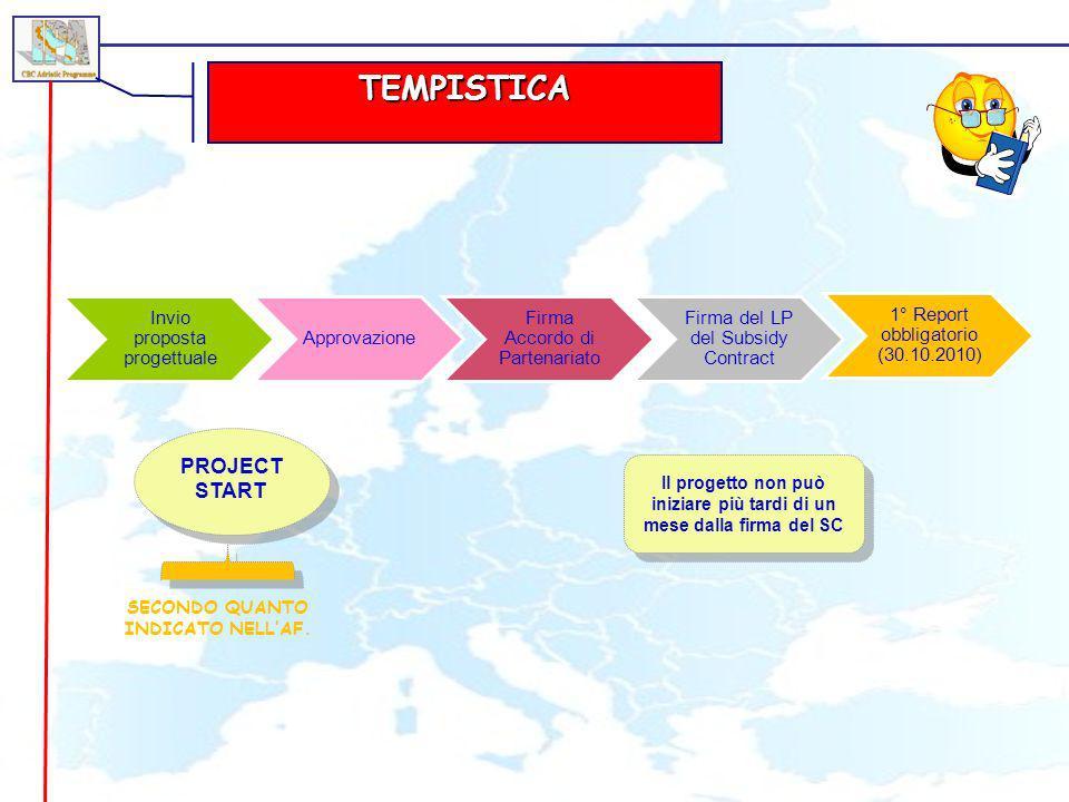 TEMPISTICA PROJECT START