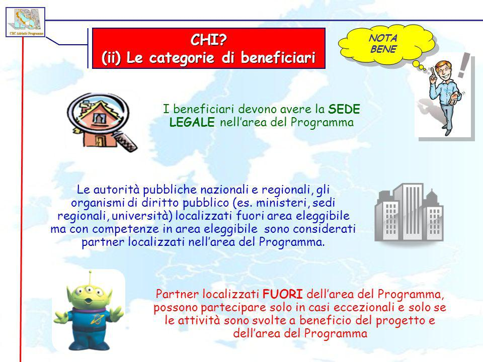 (ii) Le categorie di beneficiari