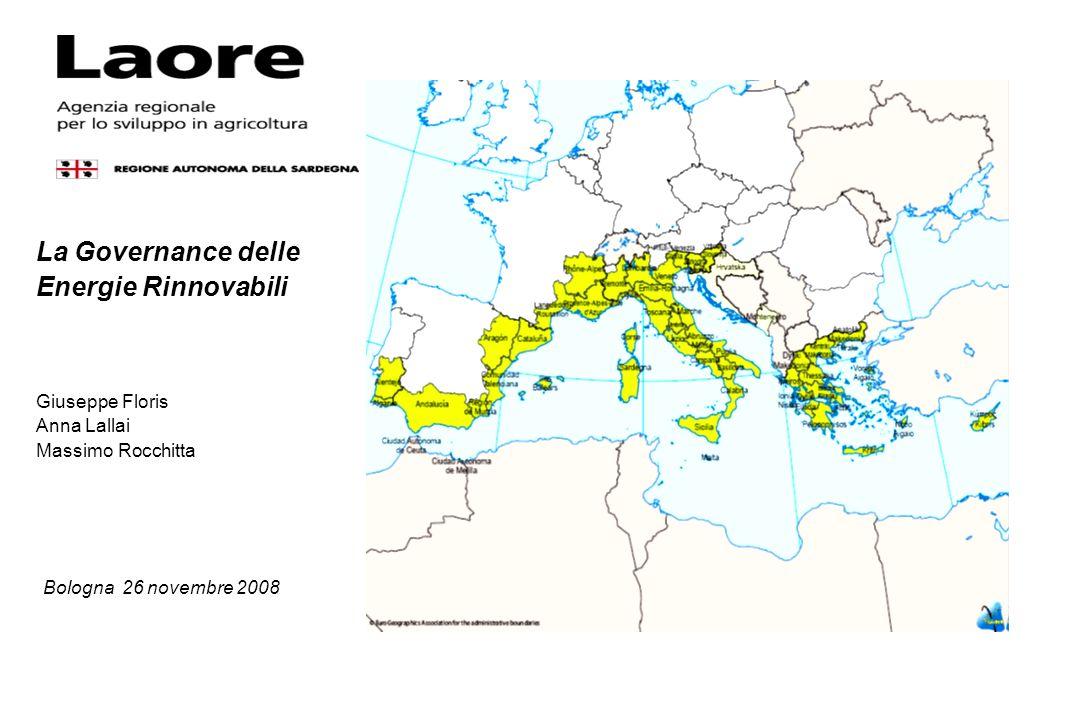 La Governance delle Energie Rinnovabili Giuseppe Floris Anna Lallai