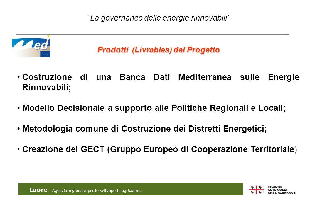 Costruzione di una Banca Dati Mediterranea sulle Energie Rinnovabili;