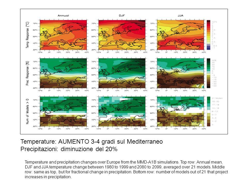 Temperature: AUMENTO 3-4 gradi sul Mediterraneo