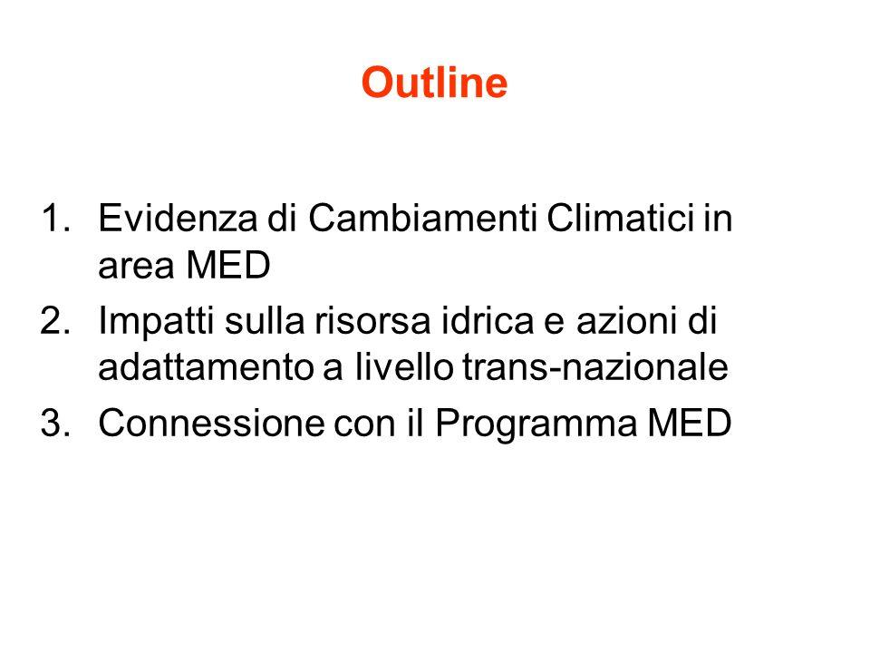 Outline Evidenza di Cambiamenti Climatici in area MED
